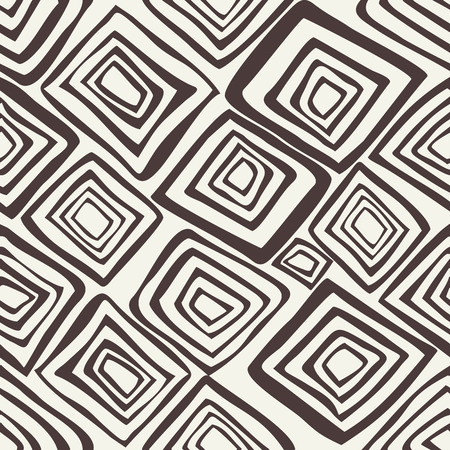 smears: Vector seamless pattern with rhombuses. Abstract background made using of brush smears. Monochrome hand drawn texture Illustration