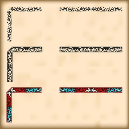 grecas: Las esquinas y bordes modulares para crear marcos en cualquier tamaño Vectores
