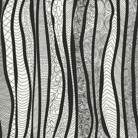 irregular shapes: Vector seamless pattern. Modern stylish texture. Endless abstract mesh. Diagonal irregular shapes Illustration