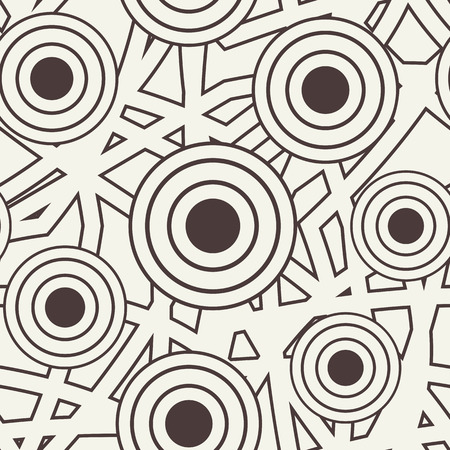 medley: Vector seamless pattern. Modern stylish texture. Repeating abstract background with with lines and circles. Illustration
