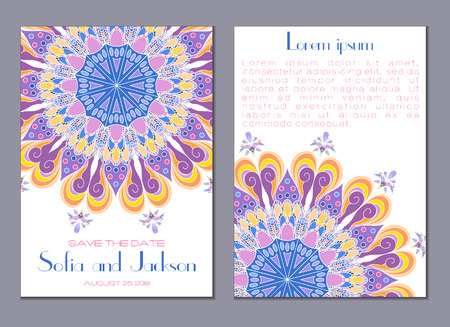 Wedding invitation card.  Ideal for Save The Date, baby shower, mothers day, valentines day, birthday cards, invitations. Vector illustration vintage design.