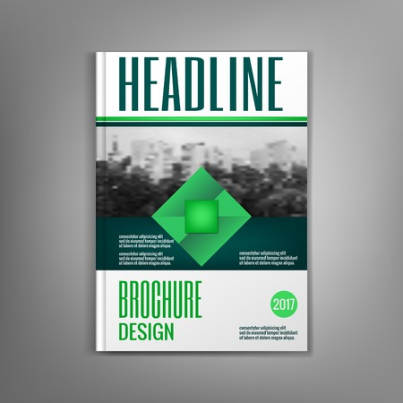 leaflets: Design magazine cover template with rhombus, leaflets, presentation covers, the annual report. Modern dynamic design.