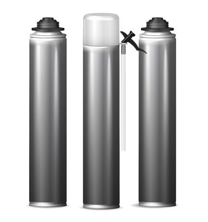 Mock Up sjabloon fles pu schuim voor ontwerp. Vector illustratie