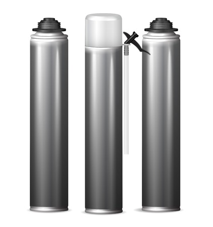 Mock Up template bottle pu foam for design. Vector  illustration Illustration