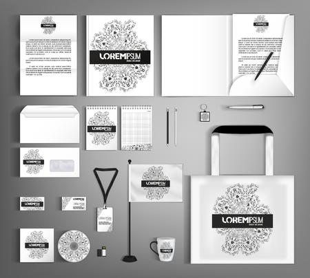 Diseño De Plantilla De Identidad Corporativa De Moda Con Un Elemento ...