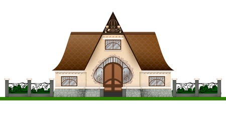 Graphic architectural design Isolated Illustration
