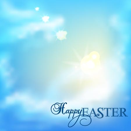 Easter background.The sky with clouds. Illusztráció