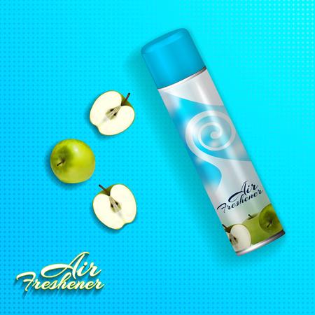 Air freshener with green apples.Vector 3d illustration Illustration