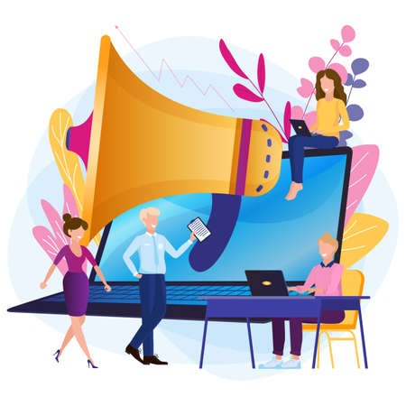 Online promotion of business web pages, advertising, dial tone, online notification.