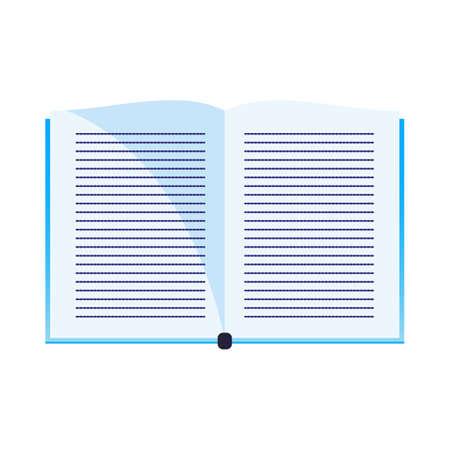 Flat illustation of open book literature vector icon