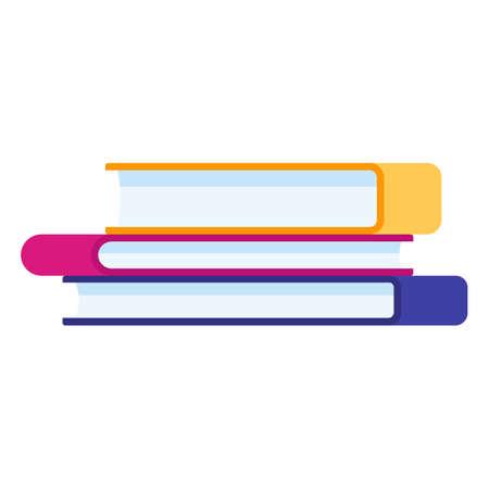 Flat illustration stack of books literature vector icon