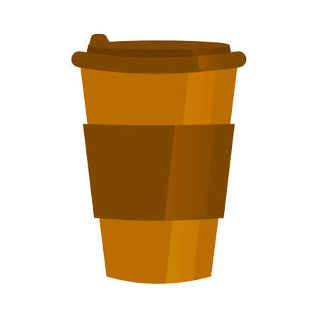 Coffee cup flat style, colorful, vector icon for infographics.