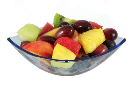 Colourful fruit salad in a quare bowl. Stock Photo - 421762
