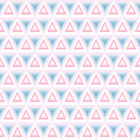 Seamless triangle pattern, background, texture. Abstract geometric pastel blue and pink. Repeat background. Ilustracja