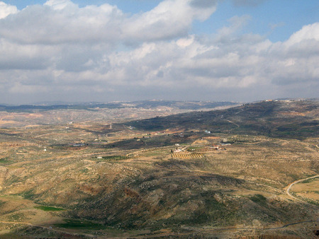 elevated view: view from mountain Nebo (Jordan) to promised land