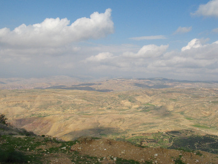 promised: view from mountain Nebo (Jordan) to promised land