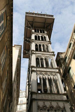 elevador: elevator of Santa Justa in Lisbon
