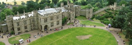 View of Warwick castle (panoramic photo) photo