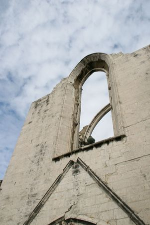 The Carmo convent ruins in Lisbon, Portugal  photo