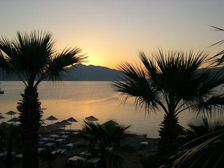 Sunrise in Marmaris, Turkey photo