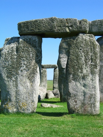 Stonehenge in the day time (detail) photo