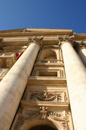 Facade view of Saint Peter church in Vatican, Rome photo