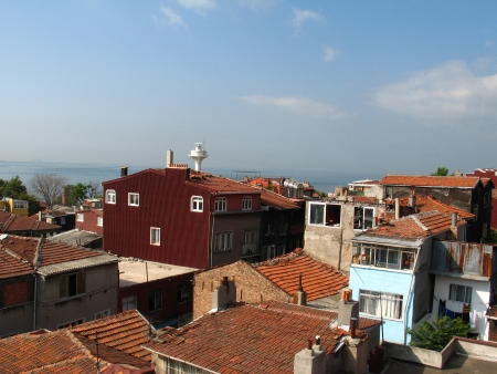 Panorama of Istanbul  Turkey  from terrace