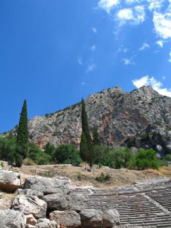 Theatre in temple of Delphi in Greece Stock Photo - 16541082