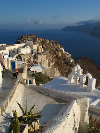 General view of Oia, city in Santorini, Greece