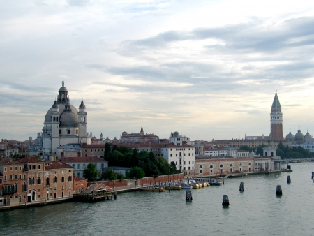 venecian: View of Venice in the morning from distance Stock Photo