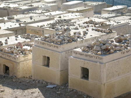The Jewish cemetery on the Mount of Olives, in Jerusalem (Israel)