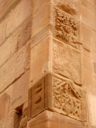 yellow stone: Detalles de la configuraci�n de piedra amarilla en Petra, Jordania
