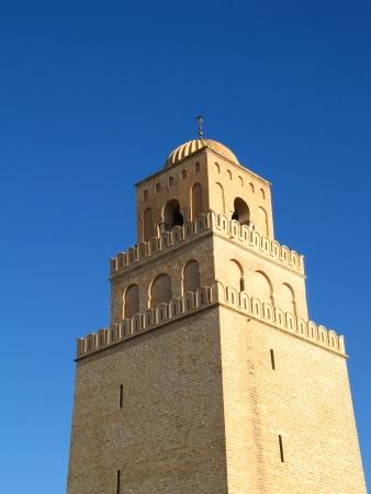 mohammedan: Detail of oldest mosque in Kairouan, Tunisia Stock Photo