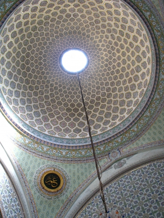 Arabic dome in Topkapi palace, Istanbul, Turkey