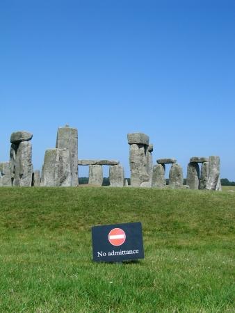 stonehenge: Stonehenge  no admitance sign in front