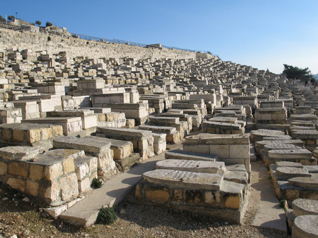 The Jewish cemetery on the Mount of Olives, in Jerusalem (Israel) photo