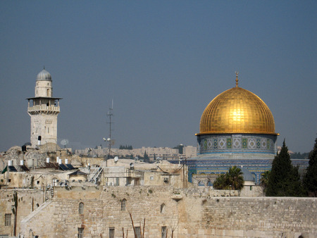 View of Jerusalem with Al-Aqsa Mosque photo