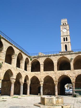 Buildings of Citadel in Acre, Israel