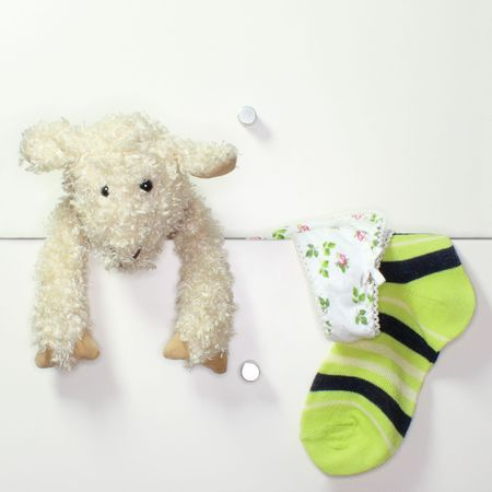 Drawers with toy and underwear Stock Photo - 4621103