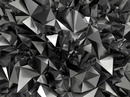 ray tracing: abstract black crystallized background