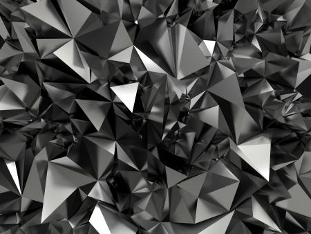 poligonos: abstracto fondo negro cristalizado