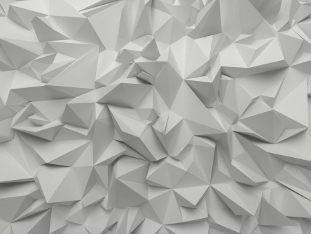 ray tracing: abstract white crystallized background