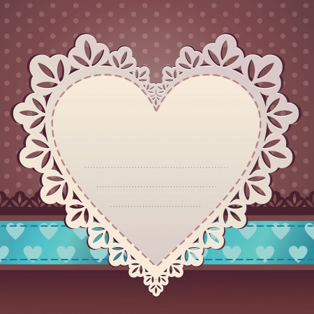 heart scrap frame background Vector