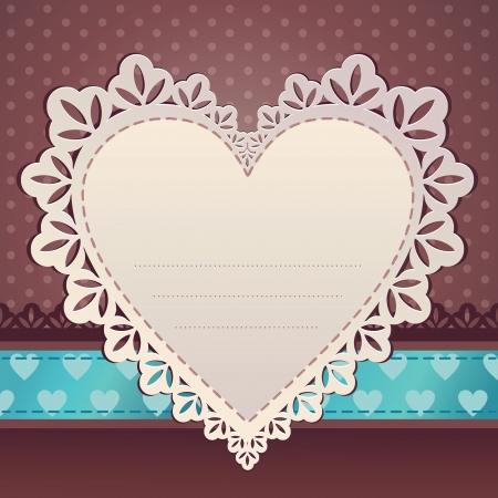saint valentine   s day: heart scrap frame background