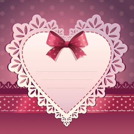 pink heart scrapbook template background Vector