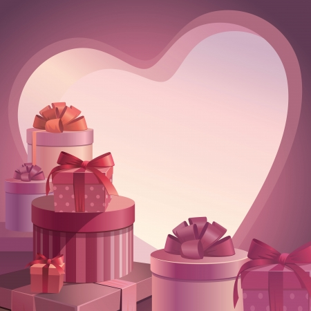 Valentine Gifts template Vector