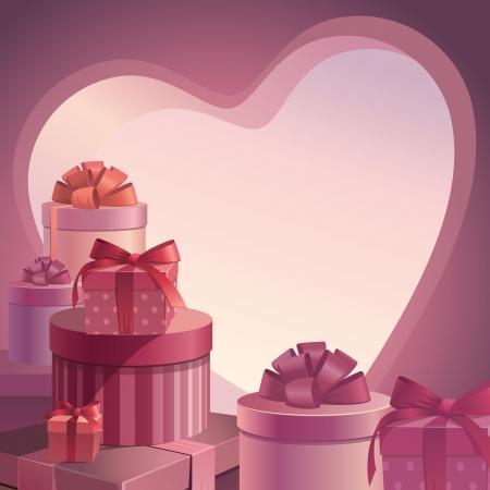 Regalos de San Valentín plantilla