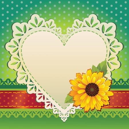 valentine heart card template Stock Vector - 15756087