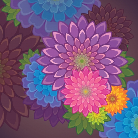 automne fleur fond Vecteurs