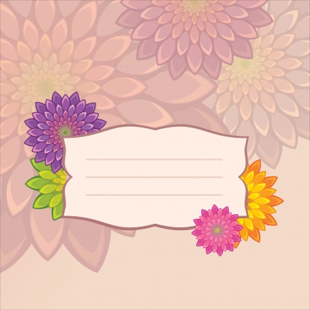flower title tag design Stock Vector - 15756092